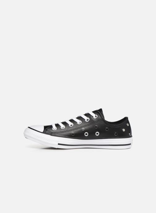Sneakers Converse Chuck Taylor All Star Leather Studs Ox Zwart voorkant