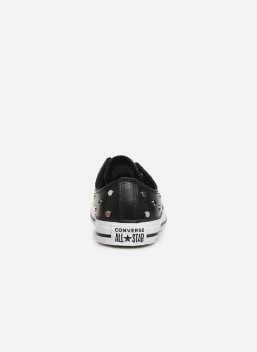 Sneakers Converse Chuck Taylor All Star Leather Studs Ox Zwart rechts