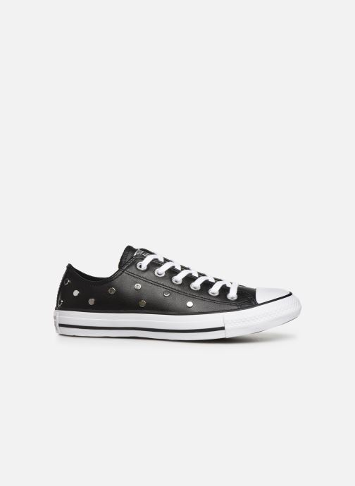 Sneakers Converse Chuck Taylor All Star Leather Studs Ox Zwart achterkant