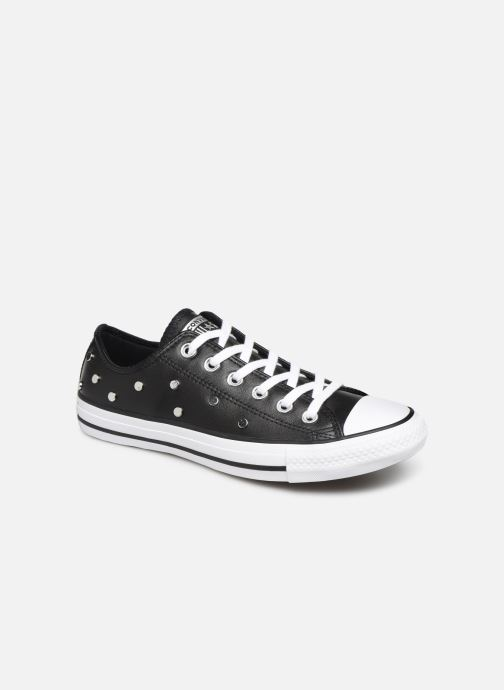 Sneakers Converse Chuck Taylor All Star Leather Studs Ox Zwart detail