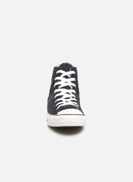 Baskets Converse Chuck Taylor All Star Wide Wale Cord Hi Bleu vue portées chaussures