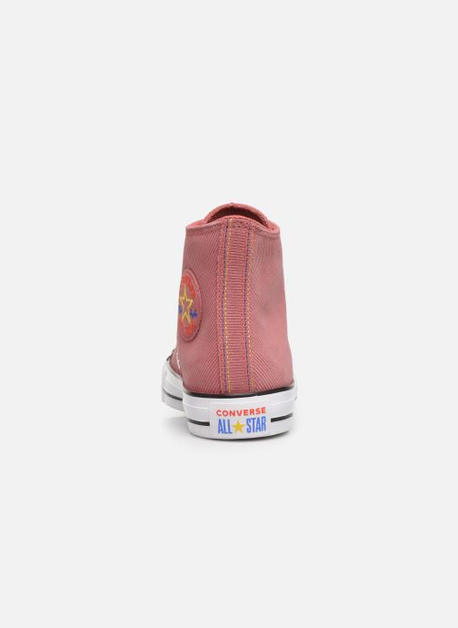 Sneaker Converse Chuck Taylor All Star Retrograde Hi rosa ansicht von rechts