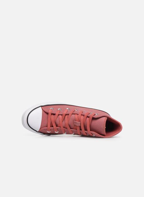 Sneakers Converse Chuck Taylor All Star Retrograde Hi Pink se fra venstre