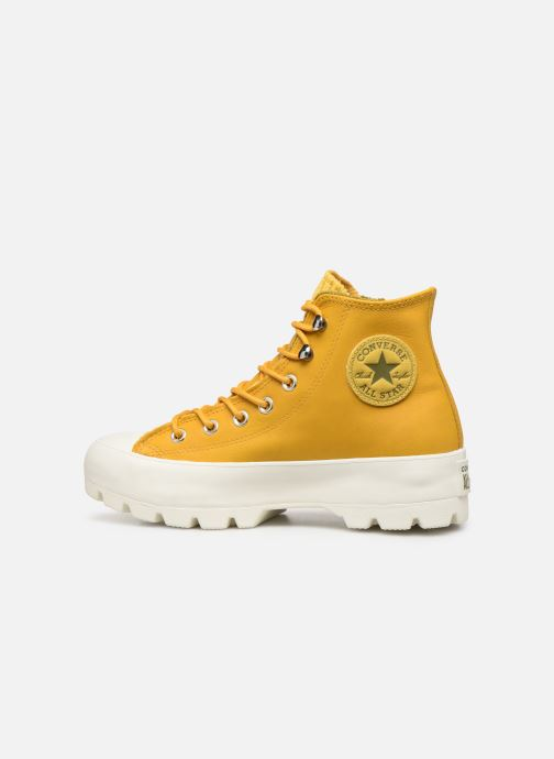 Deportivas Converse Chuck Taylor All Star Lugged Winter Retrograde Hi Amarillo vista de frente