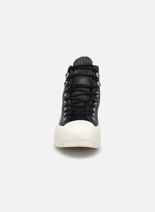 Baskets Converse Chuck Taylor All Star Lugged Winter Retrograde Hi Noir vue portées chaussures