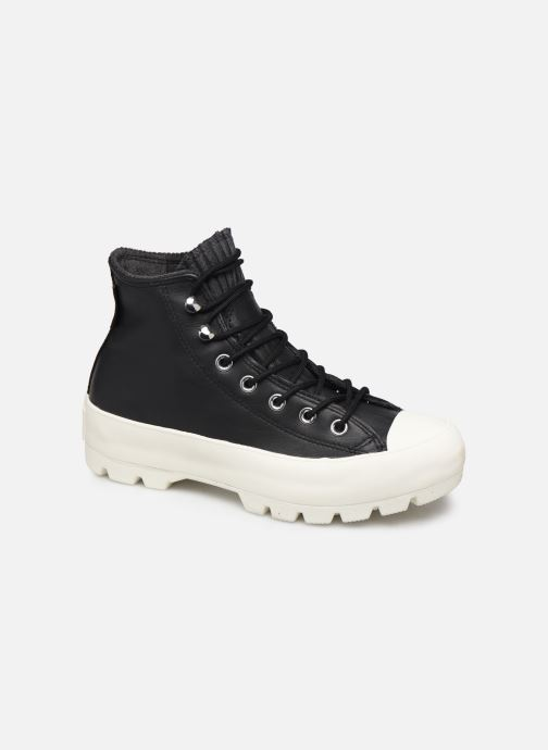 Baskets Converse Chuck Taylor All Star Lugged Winter Retrograde Hi Noir vue détail/paire