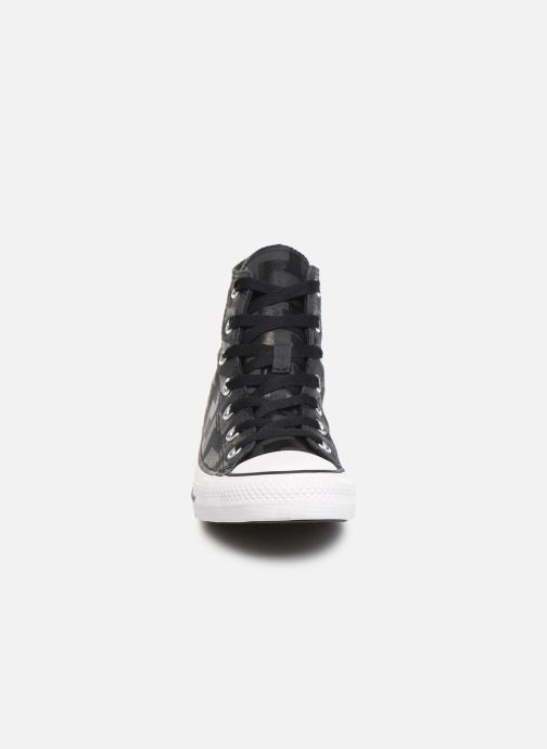 Baskets Converse Chuck Taylor All Star Glam Dunk Hi Noir vue portées chaussures