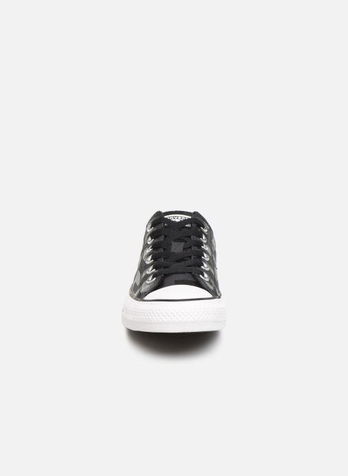 Baskets Converse Chuck Taylor All Star Glam Dunk Ox Noir vue portées chaussures