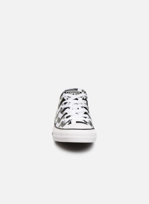 Baskets Converse Chuck Taylor All Star Glam Dunk Ox Blanc vue portées chaussures