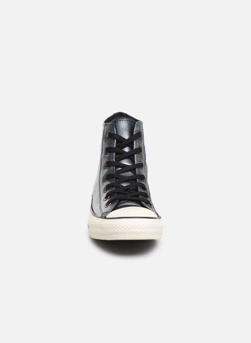 Baskets Converse Chuck Taylor All Star Glitter Hi Argent vue portées chaussures
