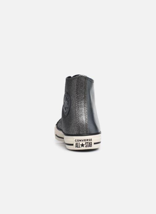 Sneakers Converse Chuck Taylor All Star Glitter Hi Zilver rechts