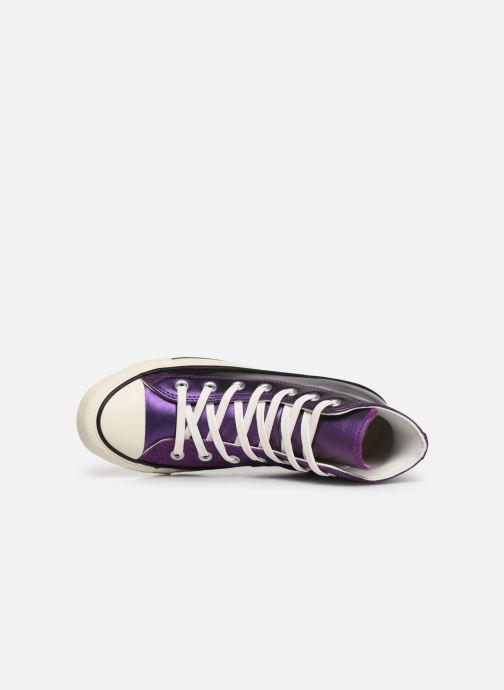 Sneakers Converse Chuck Taylor All Star Glitter Hi Lilla se fra venstre