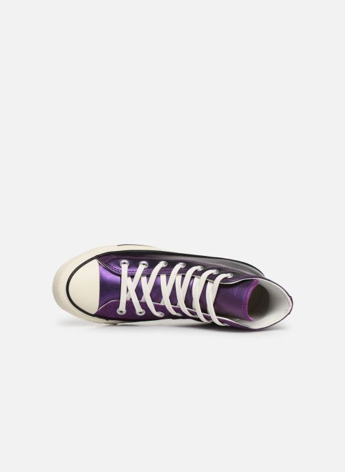 Trainers Converse Chuck Taylor All Star Glitter Hi Purple view from the left