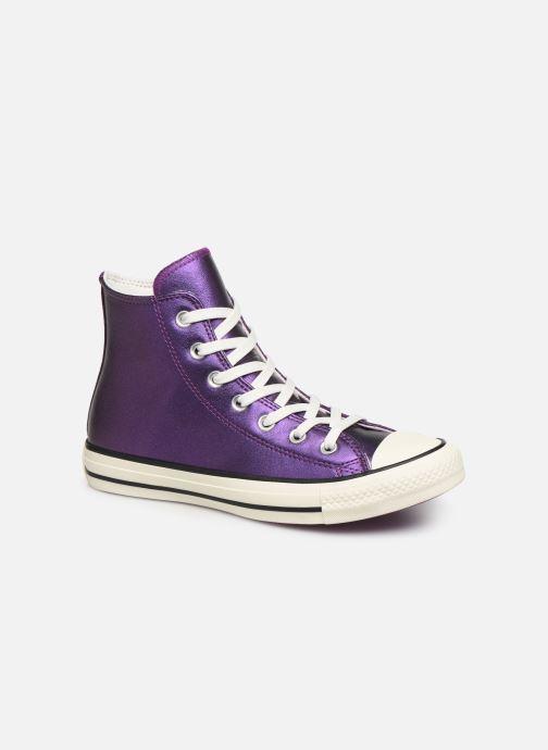 Sneakers Converse Chuck Taylor All Star Glitter Hi Lilla detaljeret billede af skoene