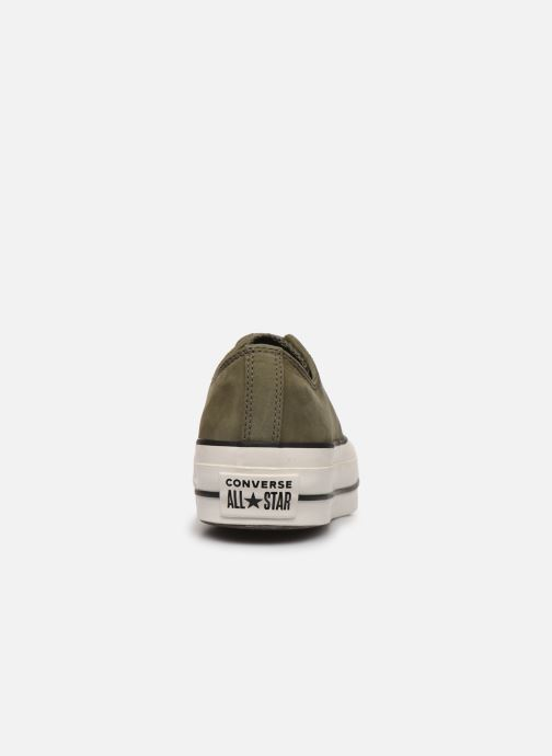 Trainers Converse Chuck Taylor All Star Lift Nubuck Ox Green view from the right