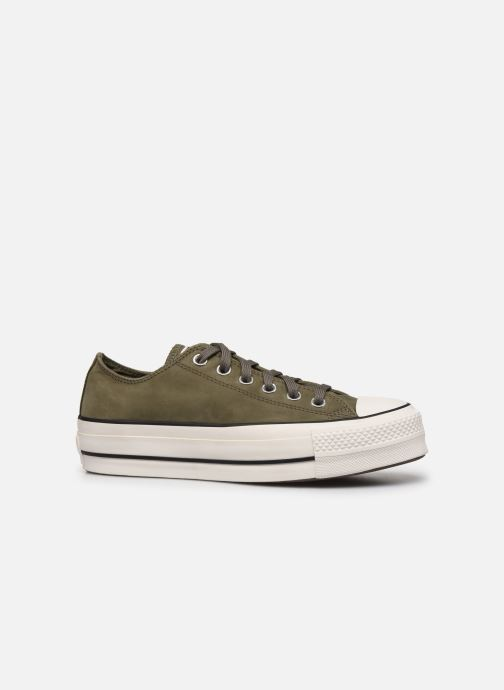 Trainers Converse Chuck Taylor All Star Lift Nubuck Ox Green back view