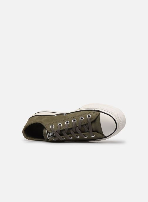Trainers Converse Chuck Taylor All Star Lift Nubuck Ox Green view from the left