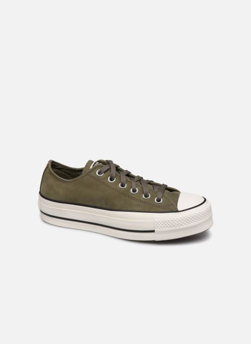 Trainers Converse Chuck Taylor All Star Lift Nubuck Ox Green detailed view/ Pair view