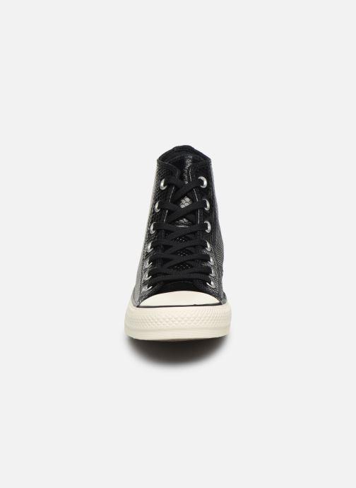 Baskets Converse Chuck Taylor All Star Metallic Snake Hi W Noir vue portées chaussures