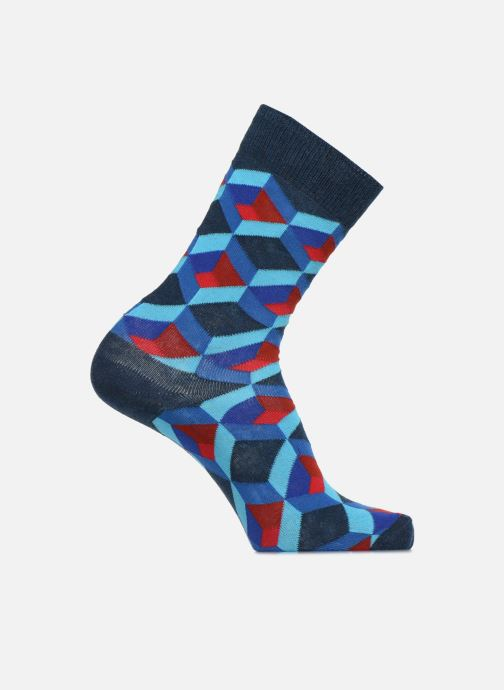Socks & tights Happy Socks Chaussette Optic Square Blue detailed view/ Pair view