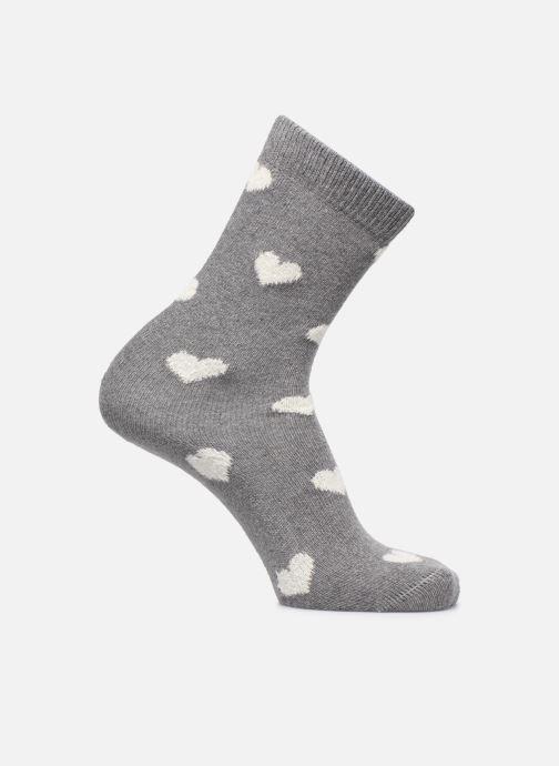 Sokken en panty's BLEUFORÊT Chaussettes Cachemire Cœur Grijs detail