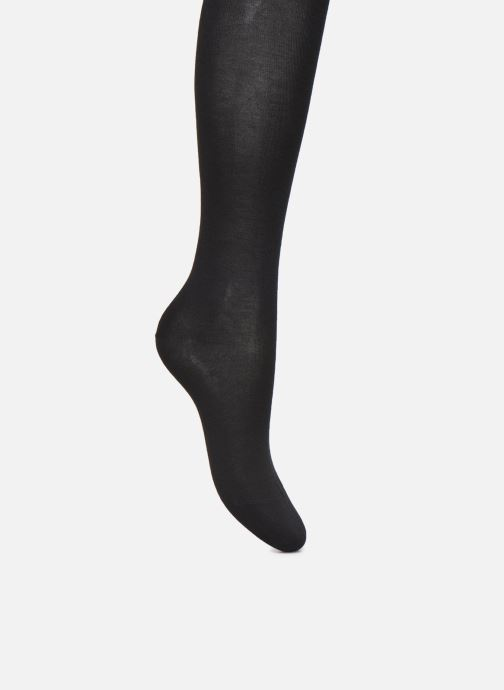 Socks & tights BLEUFORÊT Collant Coton Velouté Adouci à l'Huile d'Argan Black detailed view/ Pair view