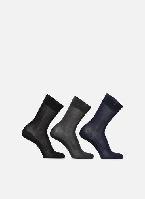 Socks & tights BLEUFORÊT Coffret Chaussettes Fil d'Ecosse Lot de 3 Black detailed view/ Pair view