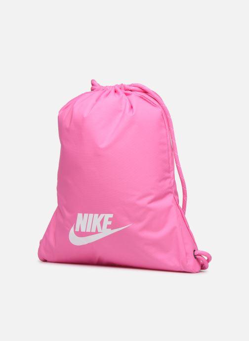Borsa da palestra Nike HERITAGE GMSK - 2.0 Rosa modello indossato