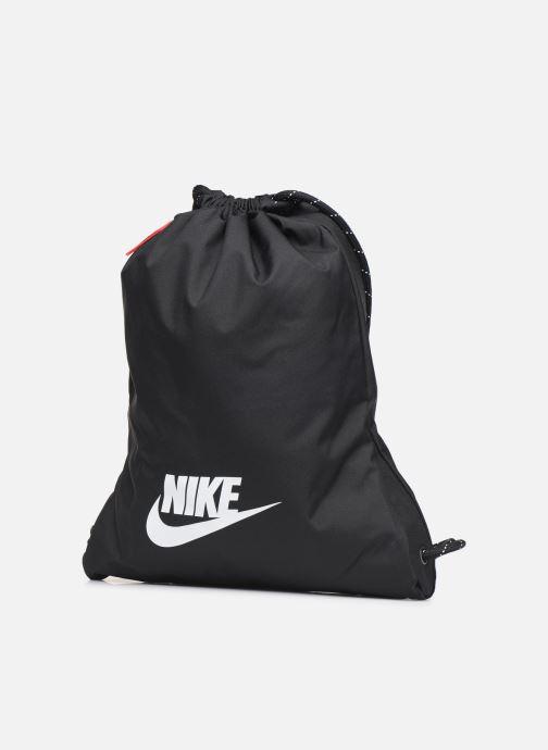 Sporttaschen Nike HERITAGE GMSK - 2.0 schwarz schuhe getragen