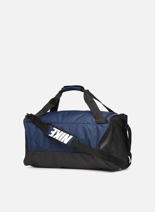 Sports bags Nike BRSLA M DUFF - 9.0 Blue view from the right