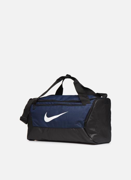 Sacs de sport Nike BRSLA S DUFF - 9.0 Bleu vue portées chaussures