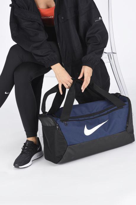 Sacs de sport Nike BRSLA S DUFF - 9.0 Bleu vue bas / vue portée sac