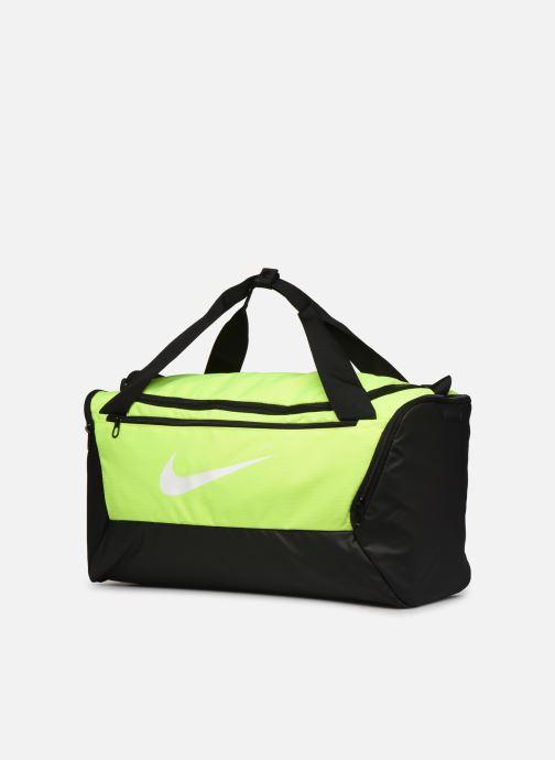 Sacs de sport Nike BRSLA S DUFF - 9.0 Jaune vue portées chaussures