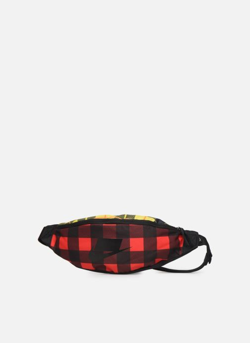 Petite Maroquinerie Nike HERITAGE HIP PACK - PLAID Rouge vue portées chaussures