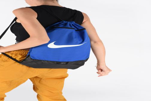 Sacs de sport Nike BRSLA GMSK – 9.0 Bleu vue bas / vue portée sac