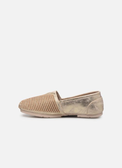 Mocasines Skechers Luxe Bobs/Big Dreamer Oro y bronce vista de frente