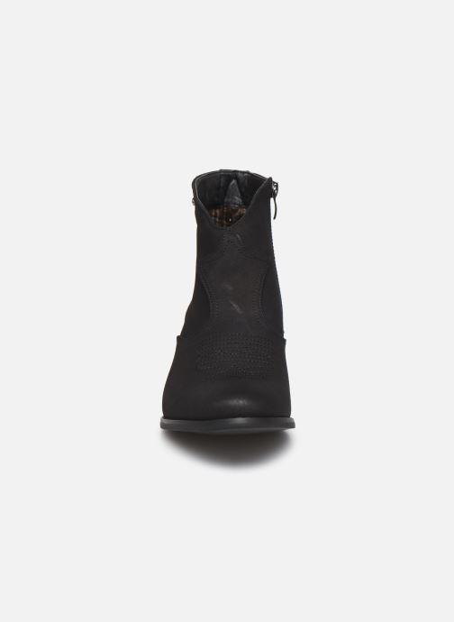Bottines et boots Kaporal Sabrina Noir vue portées chaussures
