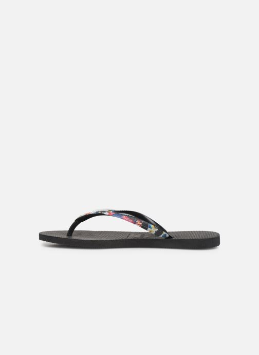 Tongs Havaianas Slim Strapped Noir vue face
