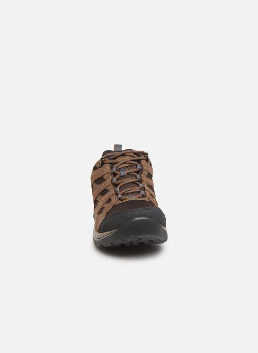 Chaussures de sport Columbia Redmond V2 Waterproof Marron vue portées chaussures