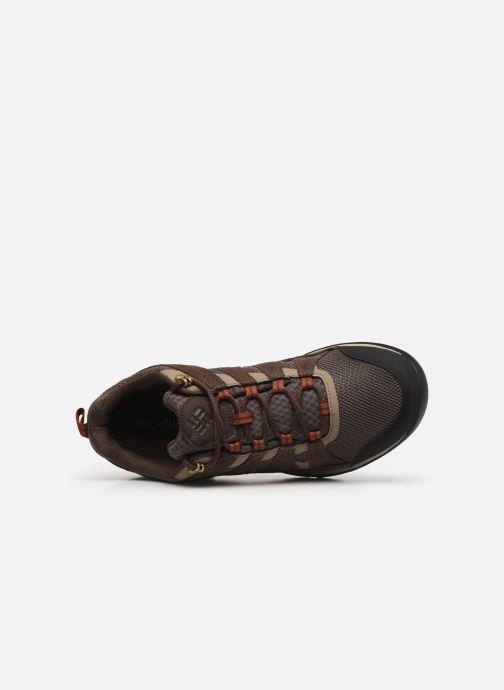 Zapatillas de deporte Columbia Redmond V2 Waterproof Marrón vista lateral izquierda