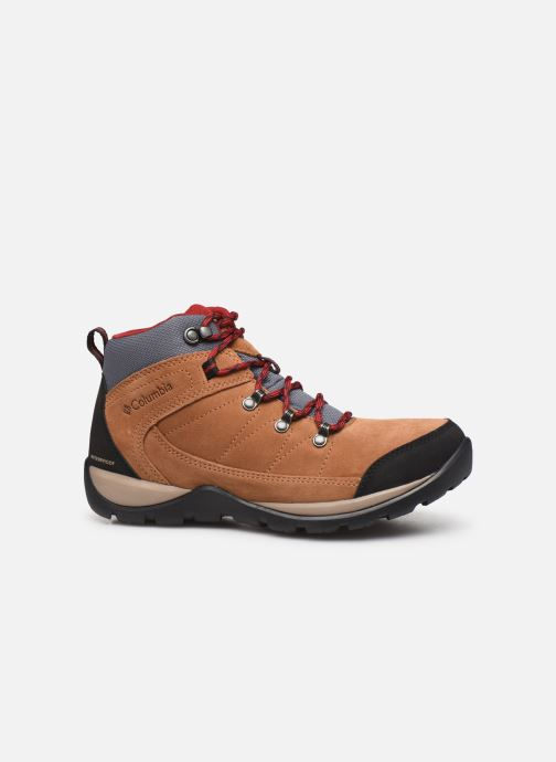 Sport shoes Columbia Fire Venture S II Mid Waterproof Brown back view