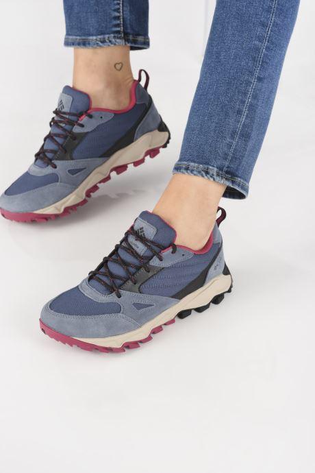 Chaussures de sport Columbia Ivo Trail Bleu vue bas / vue portée sac