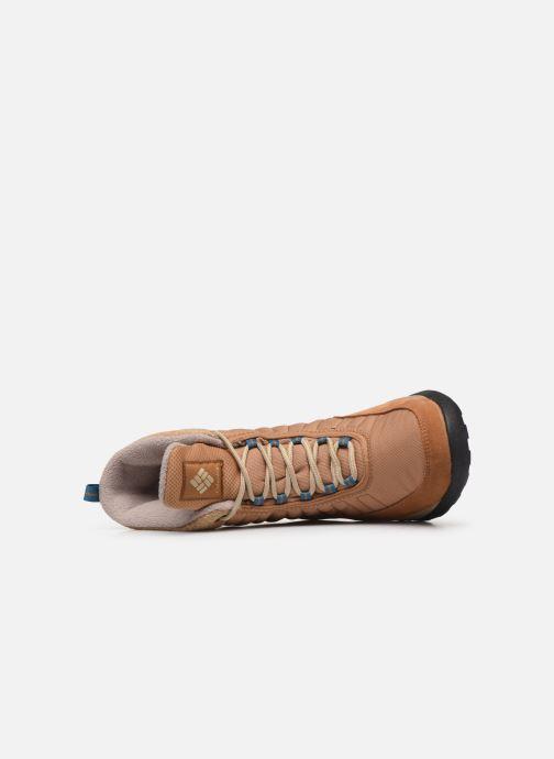 Zapatillas de deporte Columbia Nikiski Marrón vista lateral izquierda