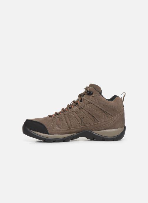 Chaussures de sport Columbia Redmond V2 Leather Mid Waterproof Beige vue face