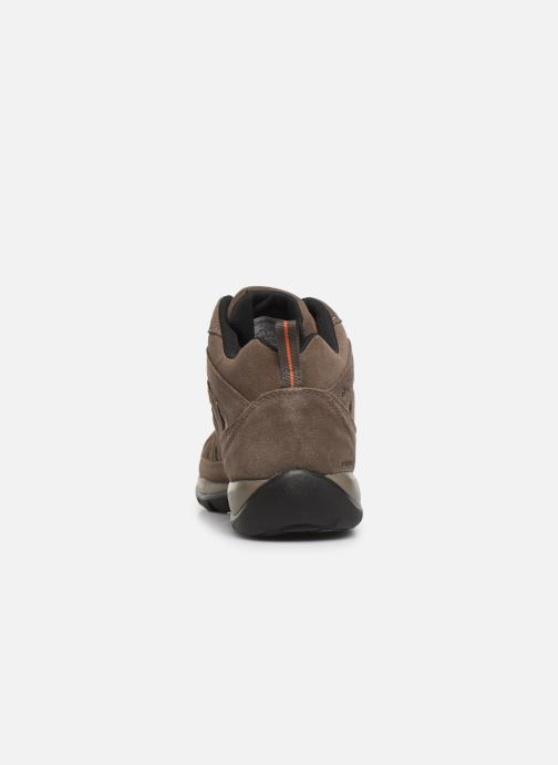 Chaussures de sport Columbia Redmond V2 Leather Mid Waterproof Beige vue droite