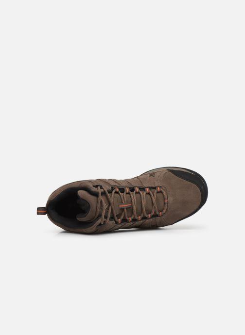 Chaussures de sport Columbia Redmond V2 Leather Mid Waterproof Beige vue gauche