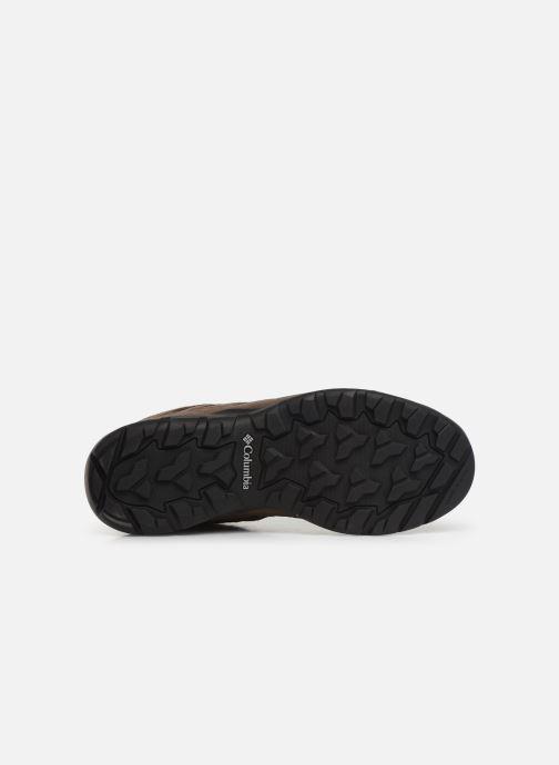 Chaussures de sport Columbia Redmond V2 Leather Mid Waterproof Beige vue haut