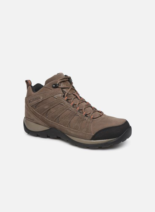 Chaussures de sport Columbia Redmond V2 Leather Mid Waterproof Beige vue détail/paire