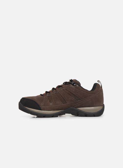 Chaussures de sport Columbia Redmond V2 Leather Waterproof Marron vue face