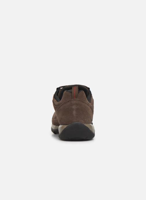Zapatillas de deporte Columbia Redmond V2 Leather Waterproof Marrón vista lateral derecha